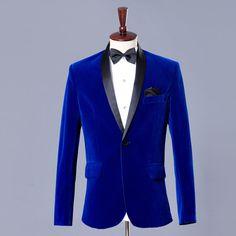 Blue velvet blazer men velvet suit jacket mens velvet blazers men blazer designs blazer masculino