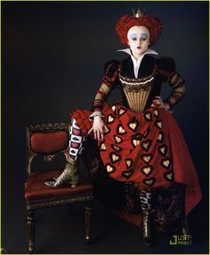 Helena Boham Carter as the Red Queen in Alice in Wonderland (Tim Burton, 2010)