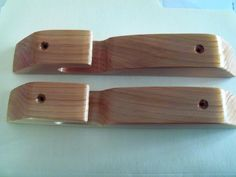 Cedar Wood Plant Hanger - Hardware Included - Set of 2 for Indoor or Outdoor Use. $10.00, via Etsy.