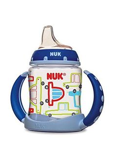 NUK 14097 Cars Learner Cup, 5-Ounce, 2 Pack NUK