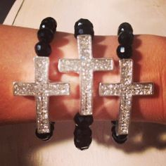 Religious arm candy made with bling follow on insta  Like Facebook page beads by Sonz