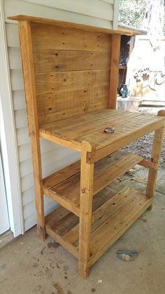 Pallet Potting Bench - 150+ Wonderful Pallet Furniture Ideas | 101 Pallet Ideas - Part 13