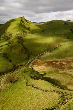 Parkhouse Hill in the village of Earl Sterndale, Peak District, Derbyshire, England