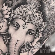 Ganesha tattoo by Meng Xiangwei @greattangtattoo http://facebook.com/greattangtattoo