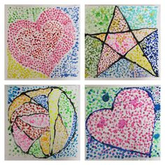 Pointillist Pictures Dot Day 4th grade