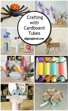 Ideas for Crafting with Toilet Paper Rolls - Here are some fun kid ideas for crafting with left over toilet paper rolls at home. Easy Crafts For Kids, Crafts To Do, Paper Crafts, Kids Learning Activities, Holiday Activities, Toilet Paper Roll Diy, Pink Starburst, Tree Carving, Craft Tutorials