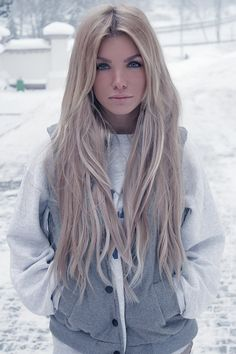Long ash blonde - if I were a blonde, this is what I would want.