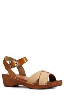Two Part Low Wood Wedge Sandals (902658G24) | £45