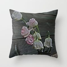 Dying Grieving Flowers Throw Pillow by Guna Andersone - $20.00