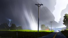 Stormy Road, Christopher Balaskas on ArtStation at https://www.artstation.com/artwork/stormy-road