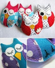Sewing Projects For Kids owl crafts for kids to make Kids Crafts, Owl Crafts, Crafts For Kids To Make, Cute Crafts, Craft Projects, Party Crafts, Project Ideas, Fabric Crafts, Sewing Crafts