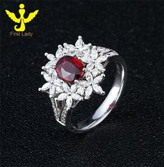 Solid 18K White Gold Natural 1.0ct Blood Red Ruby 1.0ct Round/Marquise Diamond Ring, View Ruby Ring, First Lady Product Details from Guangzhou First Lady Jewelry Co., Ltd. on Alibaba.com