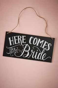 Here Comes The Bride Reversible Sign from @BHLDN