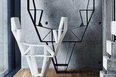 Geometric Deer Head Bookshelf Design | 2014 Interior Ideas