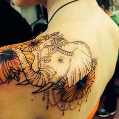 Beautiful #Elephant #Tattoo With Symbolic Meanings