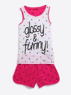 Pyjama à pois ado fille