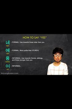 Yes #learn #Korean #flashcards
