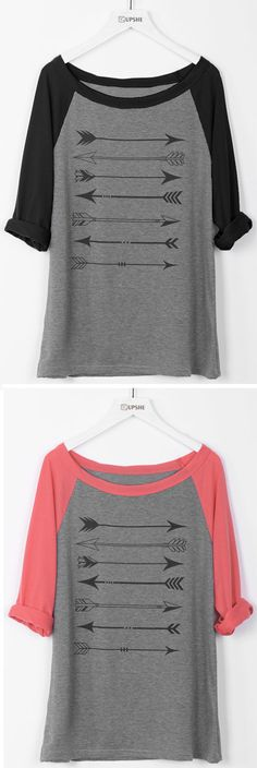 Say yes to fashion air, $16.99 with free shipping! Paired with the super soft and lightweight fabric, you can't beat the style and comfort from this arrow top!
