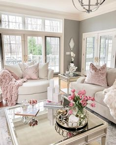 Stylish Home Decor & Chic Furniture At Affordable Prices Blush Living Room, Formal Living Rooms, Home Living Room, Living Room Designs, Living Room Furniture, Living Room Decor, Pink Living Rooms, Champagne Living Room, Stylish Home Decor
