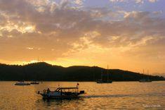 #Fethiye #Çalış Beach Water Taxi At Sunset