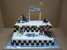 dirtbike cake | Pin Dirt Bike Race Track Cake Hawaii Dermatology On Pinterest Picture ...