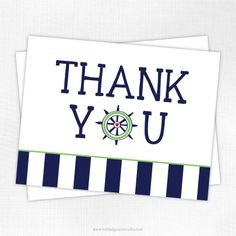 nautical card ideas | ... Note Cards / Kids Folded Note Cards / Preppy Nautical Thank You Card