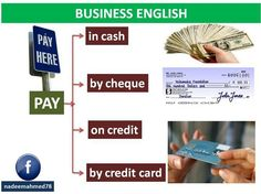 Business english - ways to pay