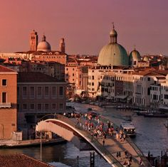 A rich and rosy sunset over Venice