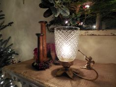 Gold Holiday Accent light with Cherub by benchmarklights on Etsy, $28.00