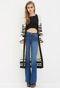 Geo-Patterned Cardigan | Forever 21 - 2000146821