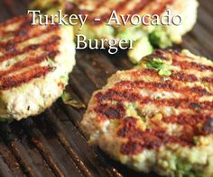Turkey Avocado Burgers - only 4 ingredients!  Delicious and healthy!