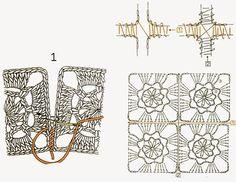 crochet kingdom (E.H): Different Techniques to Joining crochet motifs !