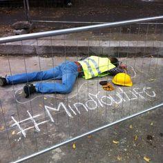#mindyourlife #milan #sicurezzasullavoro #guerrillamarketing