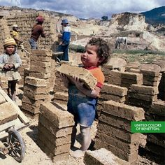 Oliviero Toscani - El provocador retrato del trabajo infantil, para Benetton.