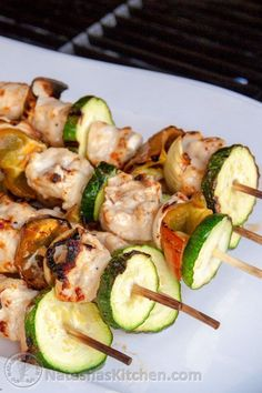 These chicken skewers are simple and very good. The addition of ranch and garlic to the marinade makes this the most mouth-watering chicken I've tried.