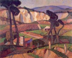 JOHN WEEKS Landscape with Farmhouse