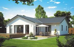Decorating Your American Bungalow Style House Modern Bungalow Exterior, Modern Bungalow House, Bungalow Homes, Bungalow House Plans, Modern Farmhouse Exterior, Dream House Plans, Bungalow Extension Plans, Bungalow Designs, Small Bungalow