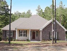 <ul><li>This lovely Southern home plan comes with a formal dining room or the option of a study with double doors opening from the foyer.</li><li>An arched entry from the foyer leads into the spacious living room with fireplace.</li><li>From the kitchen sink, you have views of the rear porch and the large breakfast nook.</li><li>Nearby, the laundry room has a window to a second rear porch.</li><li>Split bedrooms s...