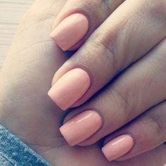 my peach nails