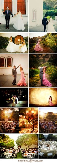 Wente Vineyards is a lovely venue to hold a wedding. The antiqued walls of the Mission-style buildings and lush landscaping allow me so many opportunities for great images. The staff is wonderful and food to die for, as well.  www.nightingalephotos.com christina@nightingalephotos.com