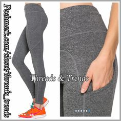 Activewear Casual Pant Stylish activewear casual pant with side pocket and stitching detail. Pair with tops, hoodies, sweaters for casual weekend look or pair with fave tee and wear to the gym. Size S, M, L made of poly/cotton spandex blend. Available in colors black or Heather grey. Threads & Trends Pants