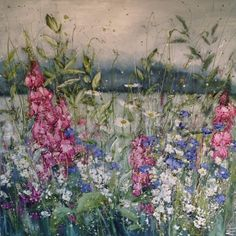 """""""Whisper a Song"""" ~ Oil on Linen by Marie Mills, English Artist . Watercolor Landscape, Watercolor Paintings, Flower Paintings, Cool Artwork, Amazing Artwork, Landscape Quilts, Garden Painting, Pastel Art, Texture Painting"""