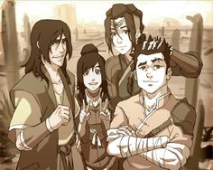 "Bryan Konietzko: ""Ming-Hua was born without arms, due to a congenital disorder. This is a cool alternate interpretation by Eugene, though!"" Young Red Lotus members by Eugene Lee (The Legend of Korra: The Art of the Animated Series, Book Change, p. Avatar Aang, Avatar Airbender, Team Avatar, Fan Art Avatar, Ming Hua, The Last Avatar, Avatar World, Avatar Series, Korrasami"