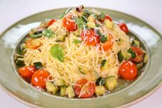 the chew | Recipe  | Michael Symon's Angel Hair With Zucchini And Mint
