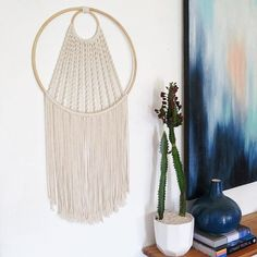 Large modern macrame dream catcher www.creativebowerbird.com