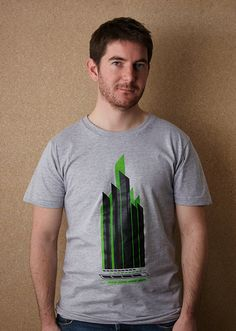 Metropolis – American Apparel Unisex Heather Grey T Shirt by Sold / Screenprinted in Black and Green / £18.00 // © Sold 2012