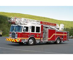 KME Fire Apparatus  Unit Name: Trumansburg FD Ladder  Engine: Cummins ISL, 450 HP  Transmission: Allison 3000 EVS Transmission  Pump: Waterous 2000 GPM Single Stage Pump  Tank size: 500 Gallon  Generator: Harrison 10kw PTO/HYD Generator