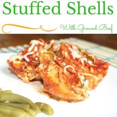 meat sauce # cookclassico spinach stuffed shells with meat sauce