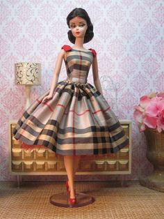 """Mad About Plaid"" by Bellissima Couture for Silkstone Barbie Barbie Dress, Barbie Clothes, Dress Up, Barbie Fashionista, Plaid Fashion, Vintage Fashion, Moda Retro, Vestidos Vintage, Vintage Barbie Dolls"