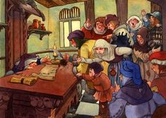 David T. Wenzel - Folk Tales Pied Piper - Angry Townsfolk